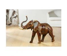 GILDE Tierfigur Skulptur - Savanna Giant braun Tierfiguren Figuren Skulpturen Wohnaccessoires Dekofiguren