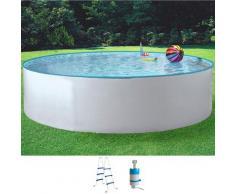 MyPool Rundpool Standard, (Set), 3-tlg., in verschiedenen Größen weiß Swimmingpools Pools Planschbecken Garten Balkon