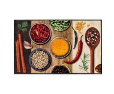 wash & dry Fußmatte Hot Spices waschbar, bunt, Neutral, bunt