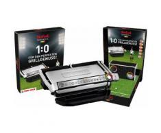 Tefal Kontaktgrill GC722D OptiGrill+ XL inkl. Tipp Kick Spiel, 2000 Watt silberfarben Elektrogrills Grill Haushaltsgeräte