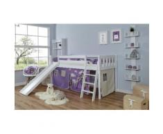 Ticaa Hochbett Ekki weiß Kinder Kinderbetten Kindermöbel Hochbetten