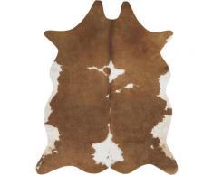 Fellteppich Amarillo Andiamo fellförmig Höhe 4 mm maschinell gewebt, beige, creme