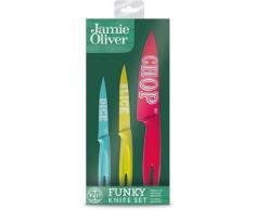 JAMIE OLIVER Messer-Set Jamie Oliver, (Set, 3 tlg.), Aus Edelstahl/Kunststoff bunt Küchenmesser-Sets Besteck Messer Haushaltswaren