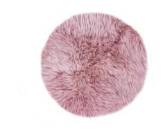 LUXOR living Stuhlkissen Lammfell, Sitzauflage, rund, echtes Lammfell rosa Sitzkissen Kissen Kopfkissen