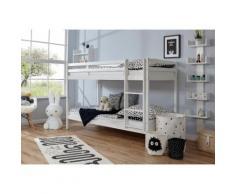 Ticaa Etagenbett Rene, mit Rollrost wahlweise Matratze, Buche weiß Kinder Kinderbetten Kindermöbel