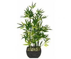 Kunstpflanze Bambus, grün, grün