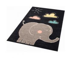 Kinderteppich Elephant Jumbo Zala Living rechteckig Höhe 8 mm maschinell gewebt, blau, dunkelblau