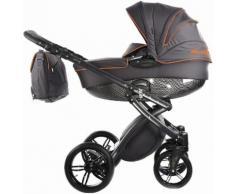 knorr-baby Kombi Kinderwagen Set, »Alive Be Carbon, dunkelgrau-orange«, grau, Unisex, grau-orange