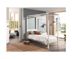 Vipack Himmelbett, wahlweise mit Textil-Set weiß Doppelbetten Betten Himmelbett