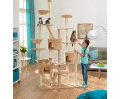 ABUKI Kratzbaum XXL, hoch, BxTxH: 120x50x255 cm beige Kratz- Kletterbäume Katze Tierbedarf