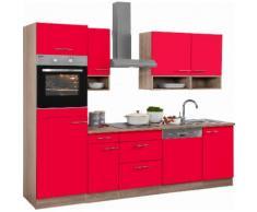 OPTIFIT Küchenzeile mit E-Geräten,»Korfu« Breite 270 cm, rot, rot