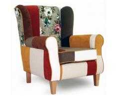 INOSIGN Patchwork- Sessel «Angela plus», mit Zierkissen,Bezug in warmen Farben und Blumenmuster, Patchwork