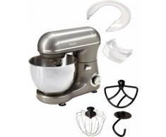 Hanseatic Küchenmaschine 439232 mit praktischem Zubehör und stufenloser Geschwindigkeitsreglung, 600 Watt, Schüssel 4 Liter grau Multifunktionsküchenmaschinen Küchenmaschinen Haushaltsgeräte ohne Kochfunktion