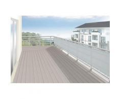 Floracord Balkonsichtschutz, BxH: 500x75 cm, silbergrau grau Markisen Garten Balkon Balkonsichtschutz