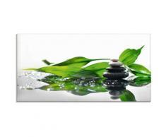 Artland Glasbild Spa mit Steinen und Bambus, Zen, (1 St.) grün Glasbilder Bilder Bilderrahmen Wohnaccessoires
