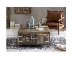 SIT Couchtisch Fridge, mit Kühlschrankgriffen, Shabby Chic, Vintage braun Couchtische eckig Tische Tisch