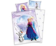 Disney Kinderbettwäsche Frozen Sisters, Eiskönigin lila Bettwäsche-Sets Bettwäsche, Bettlaken und Betttücher