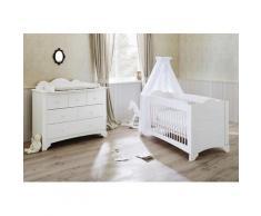 Pinolino Babyzimmer-Komplettset Pino (Set 2-tlg), weiß, weiß lasiert