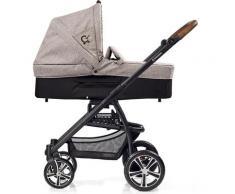 Gesslein Kombi-Kinderwagen F4 Air+ mit Babywanne C3, Stein meliert/Tupfen grau Kinder Kombikinderwagen Kinderwagen Buggies