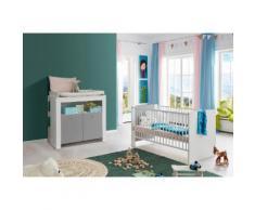Babymöbel-Set Lissabon (Spar-Set 2-tlg), grau, grau/weiß