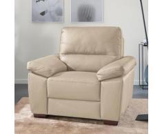 CALIA ITALIA Sessel Gaia, in zwei Lederqualitäten beige Ledersessel