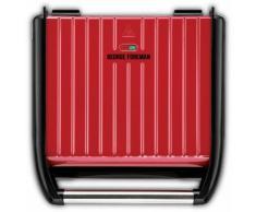 George Foreman Kontaktgrill Steel Entertaining Fitnessgrill 25050-56, 1850 Watt, Watt rot Elektrogrills Grill Haushaltsgeräte