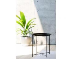 Homexperts Beistelltisch Smart, Tablett-Tisch aus Metall, 47 cm Durchmesser schwarz Beistelltische Tische Tisch