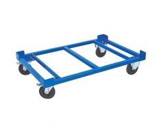 Transportroller, LxBxH 1210x810x275 mm, Tragkraft 750 kg, Rad-Ø 160x50 Vollgummibereifung blau Waschmaschinen SOFORT LIEFERBARE Haushaltsgeräte Transportroller