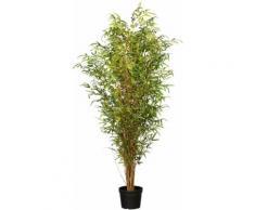 Creativ green Kunstbaum Bambus grün Künstliche Zimmerpflanzen Kunstpflanzen Wohnaccessoires