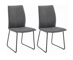 NIEHOFF SITZMÖBEL Polsterstuhl Capri grau Polsterstühle Stühle Sitzbänke