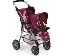 """CHIC2000 Puppenbuggy """"Tandem-Puppen-Buggy Twinny brombeere"""", rot, brombeer"""