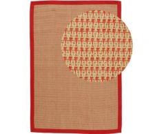 Teppich, Sisal Sofia, carpetfine, rechteckig, Höhe 5 mm, handgewebt rot Juteteppiche Naturteppiche Teppiche