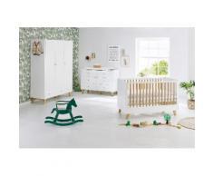 Pinolino Babyzimmer-Komplettset Pan (Set 3-tlg), weiß, weiß/eiche