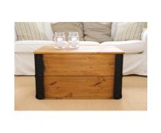 Uncle Joe´s Truhentisch Transportkiste braun Holz-Couchtische Holztische Tische Tisch