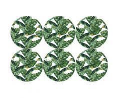 queence Getränkeuntersetzer GC0126-K4, (Set, 6 tlg.), aus Kunststoff grün Untersetzer Küchenhelfer Haushaltswaren