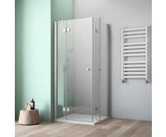 maw by GEO Eckdusche A-E340, ebenerdiger Einbau möglich silberfarben Bodenablauf Duschkabinen Duschen Bad Sanitär