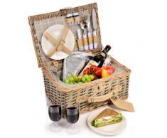 SÄNGER Picknickkorb Amrum, (13 St.) braun Küchenhelfer Haushaltswaren