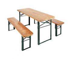 Pinolino Kindersitzgruppe Sepp, Picknicktisch, BxHxT: 110x40x54 cm braun Kinder Kinderstühle Kindermöbel