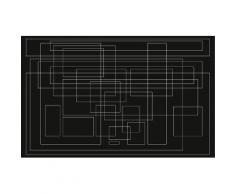 Komar Vlies Fototapete Mills Board Mondial 400/250 cm, schwarz, schwarz