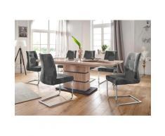 Homexperts Essgruppe Bonnie TOPSELLER grau Essgruppen Tische Sitzmöbel-Sets