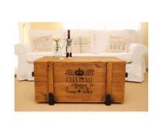 """Uncle Joe´s Truhentisch """"Chateau"""" braun Holz-Couchtische Holztische Tische Tisch"""