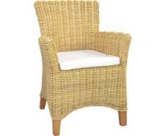 Home affaire Rattanstuhl, Handarbeit aus Rattan beige Rattanstuhl Rattan-Sessel Sessel Wohnzimmer