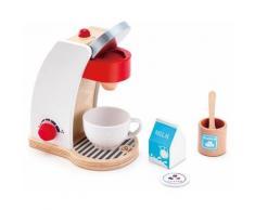 """Hape Kinder-Kaffeemaschine """"Meine Kaffeemaschine"""" (Set 6-tlg), weiß, weiß-braun-rot"""