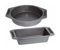 STONELINE Backform (2tlg.) silberfarben Backformen Backbleche Kochen Backen Haushaltswaren Küchenformen