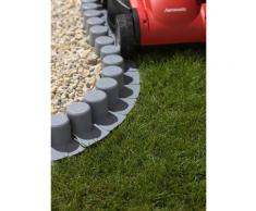Prosperplast Beetumrandung grau Rasen- Beetbegrenzung Gartendekoration Gartenmöbel Gartendeko