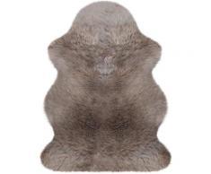 Heitmann Felle Fellteppich Lammfell farbig, fellförmig, 70 mm Höhe, echtes Austral. Lammfell, Wohnzimmer braun Wohnzimmerteppiche Teppiche nach Räumen