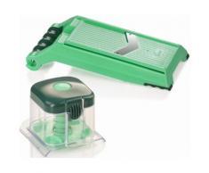 Genius Küchenreibe Kunststoff Edelstahl, (Set, 2-tlg.) grün Reiben Hobel Kochen Backen Haushaltswaren Küchenreiben