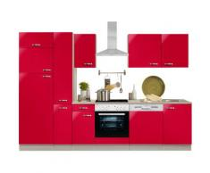 Optifit Küchenzeile ohne E-Geräte »Faro«, Breite 300 cm, rot, Rot glanz