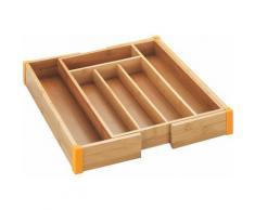 WENKO Besteckkasten Bambus beige Küchen-Ordnungshelfer Küchenhelfer Küche Schubladeneinsätze