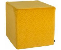 Hock Sitzwürfel Soft Nobile 45/45/45 cm, gelb, gelb